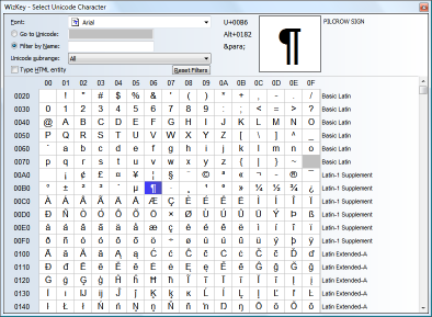 Unicode Character Browser